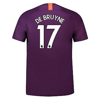2018-2019 Man City Third Nike Football Shirt (De Bruyne 17)