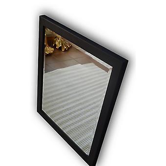 Speilet svart dimensjoner 58 x 68 cm