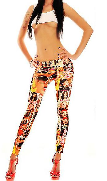 Waooh - Mode - Legging Motif Photographies De Stars