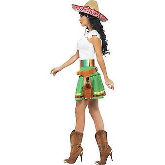 Tequila Shooter meisje kostuum, UK jurkje 12-14