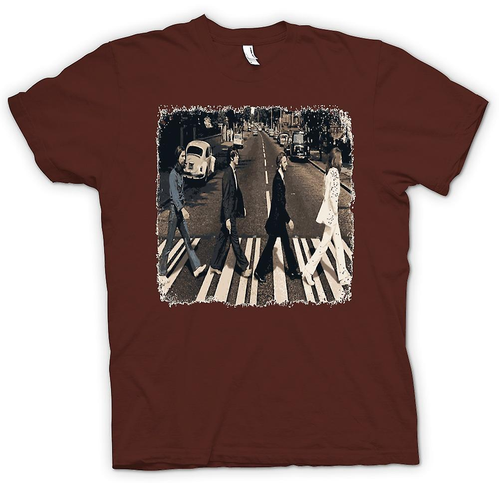 Herr T-shirt - Beatles - Abbey Road - albumet konst