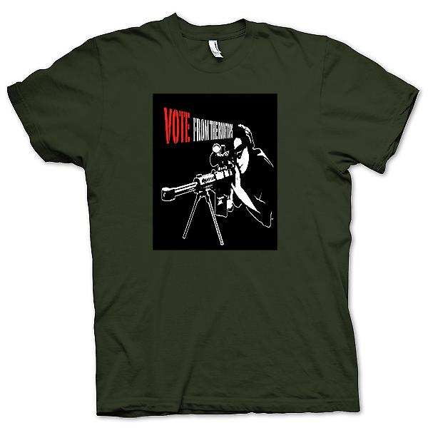 Mens T-shirt - Sniper - Vote From The Rooftop