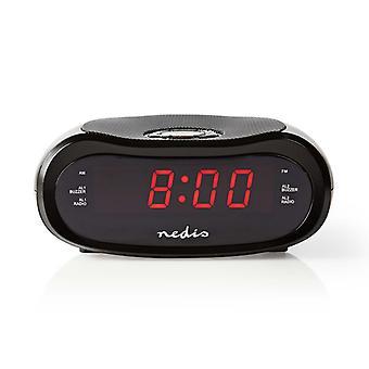 """Nedis CLAR001BK Digitale Wekkerradio Led Van 0,6"""" Fm 20 Voorkeuze-instellingen Sluimeren"""