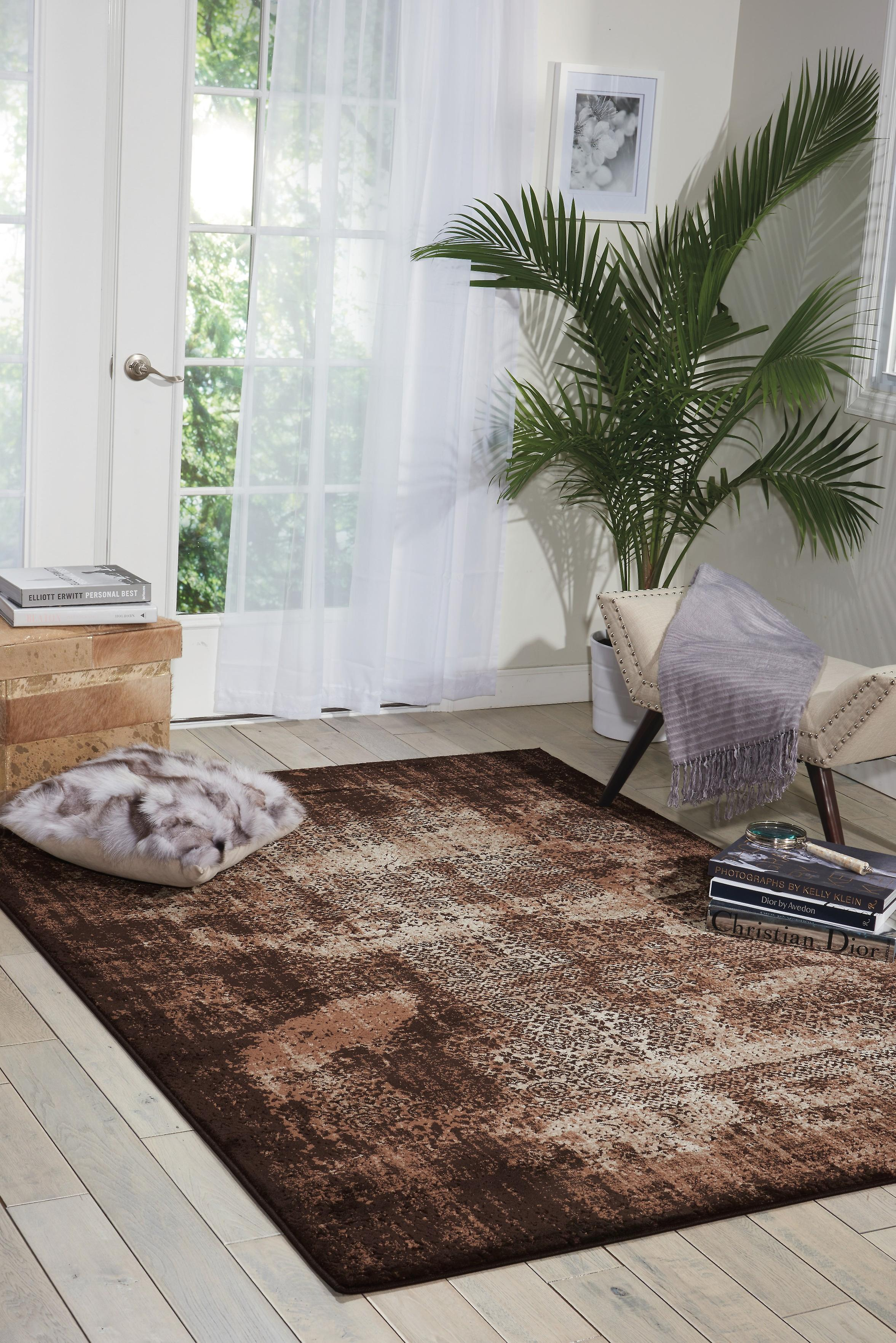 Karma Nourison KRM01 tapis Latte Rectangle tapis Plain presque ordinaire