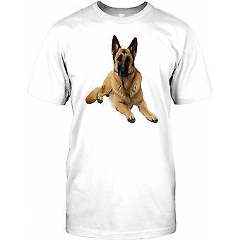 Alsation tyska Shephard sällskapsdjur hund Kids T-shirt