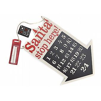 Count Down To Christmas Arrow With Santa Stop Here Message Children Pack of 2 (551804)