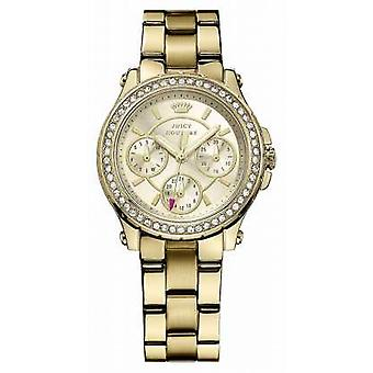 Juicy Couture Womens Pedigree, Gold, Crystal, Bracelet 1901105 Watch