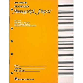 Standard Manuscript Paper ( Yellow Cover) by Hal Leonard Publishing C