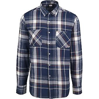 Urban Classics menn langermet skjorte sjekk skjorte
