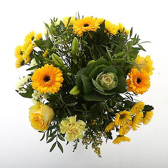 Bunch of Flowers Kim extra large, yellow | Height: 50 cm