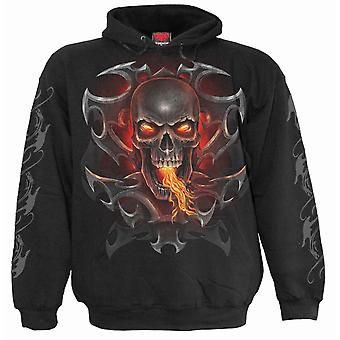 Spiral Direct Gothic FIRE DRAGON - Hoody Black|Dragon|Flames|Tribal|Skulls