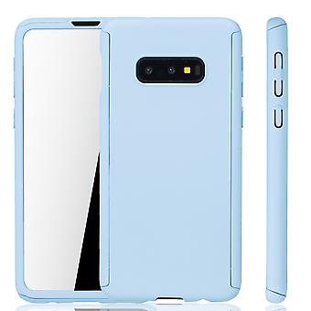 Samsung Galaxy S10e Phone Case Protection Case Full Cover Tank Protection Foil Light Blue