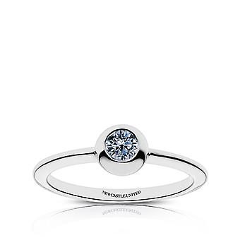 Newcastle United Fc Newcastle United Engraved White Sapphire Ring