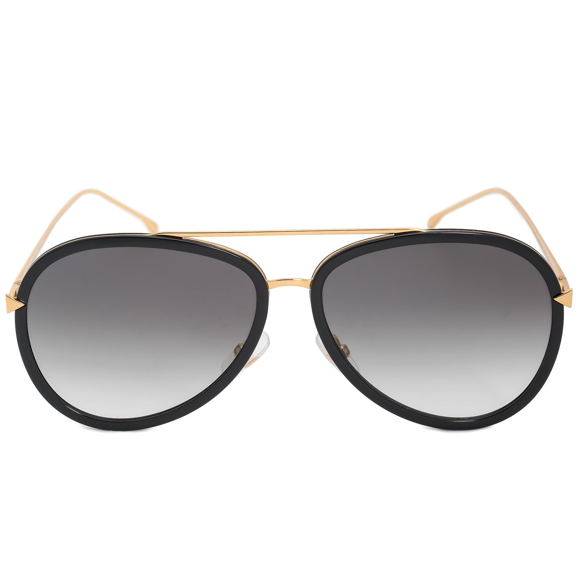 Fendi Aviator Sunglasses FF0155S MY2 JJ 57