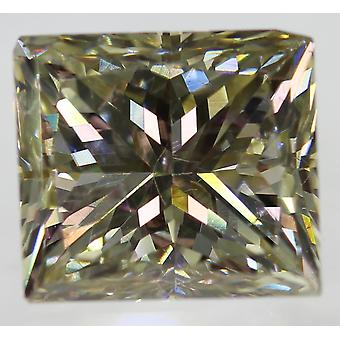 Certificeret 2,50 Carat Jørgensen VVS1 prinsesse forstærket naturlig diamant 7.47 x 6.64 mm 2VG