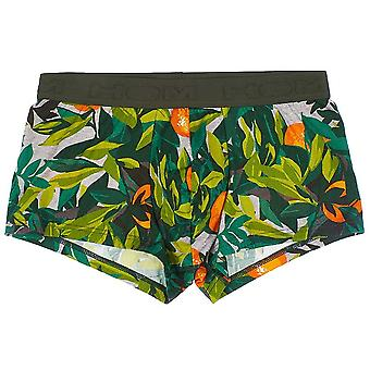 Hom TANGERINE Trunk, Khaki Green Print, Medium
