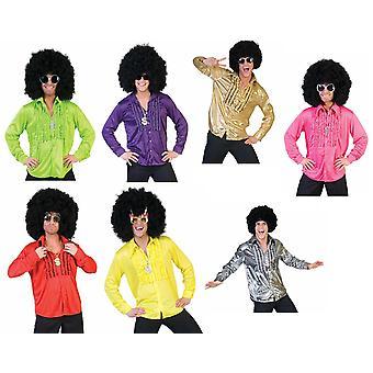 60s Ies Ruffle Camicia Costume Uomo Hit Star Discodancer Costume da Uomo