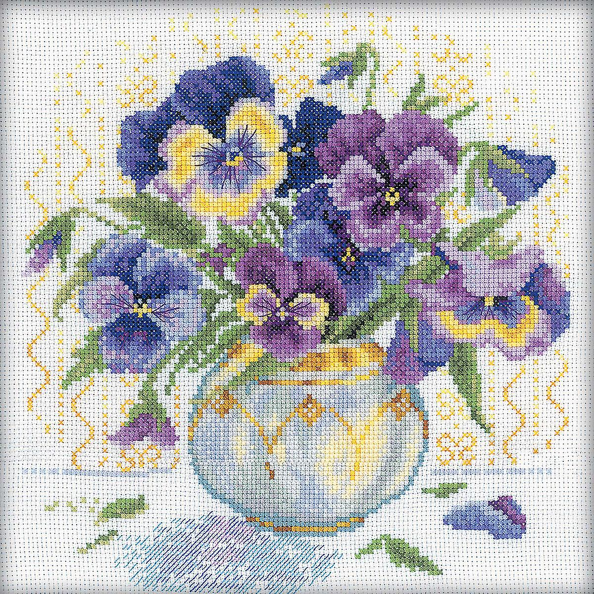 Pansies Counted Cross Stitch Kit-9