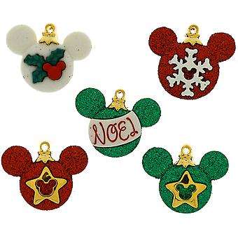 Dress It Up Licensed Embellishments-Disney Mickey Ornaments DIULBTN-8233