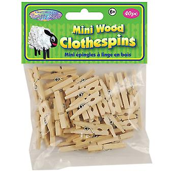 Natural Mini Clothespins 1 3 16