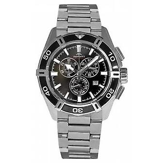 Rotary Mens Aquaspeed Black Chronogrpah Dial Stainless Steel Strap AGB90089/C/04 Watch