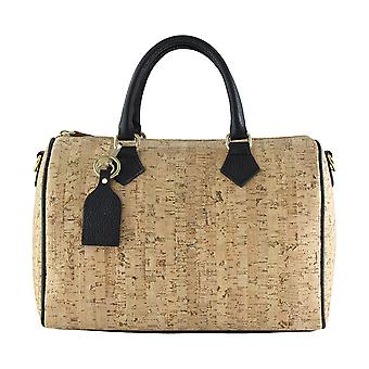 CTM handbag genuine leather women's Handbag made in Italy with Cork lining