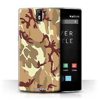 STUFF4 Case/Cover voor OnePlus One/bruin 4/Camouflage Army Navy