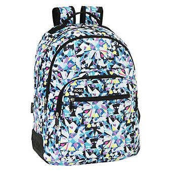 Safta Backpack Day Pack Double Adaptable to Shopping Moos Diamonds