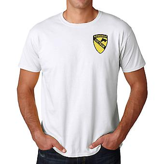 US Army 1st Cavalry Airmobile Vietnam Embroidered Logo - Ringspun Cotton T Shirt