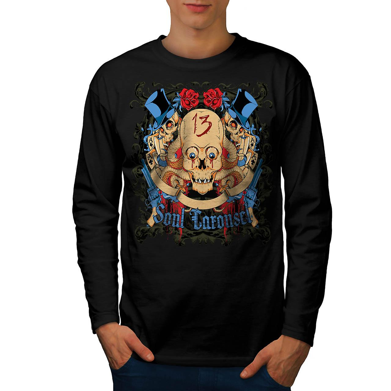 Soul Carousel Skull Terror Ride Men Black Long Sleeve T-shirt | Wellcoda