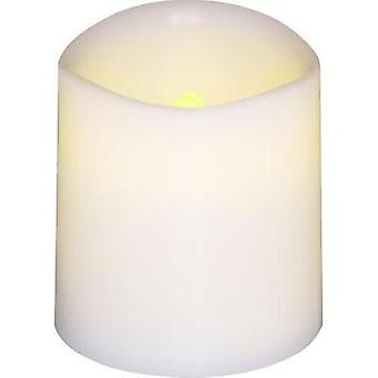 LED wax candle 4-piece set White Amber (W x H) 3.8 cm x 4.2 cm
