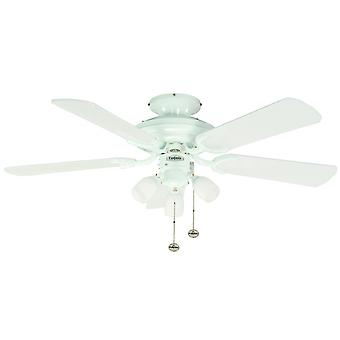 Ceiling Fan Mayfair Combi white with light 107 cm / 42
