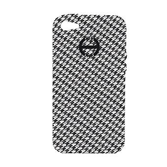 Hip hop cover cell phone case iPhone 4 / 4s pied de Poule HCV0087 noir et blanc