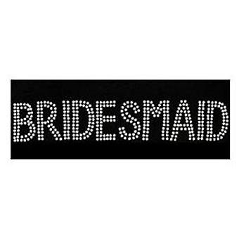 Hen Party Iron-On Diamante Transfer: BRIDESMAID - Perfect for your Hen Night
