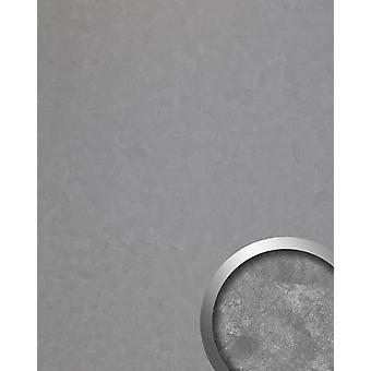 Wall Panel vintage look WallFace 19394 CLASSY SILVER cladding metal look shiny smooth self-adhesive silver 2.6 m2