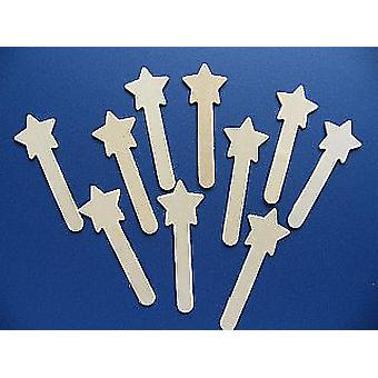 10 Craft Sticks - Star Topped | Outer Space Crafts