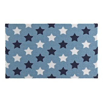 Doormat dirt trapping pad star Blau Weiß 50 x 70 cm