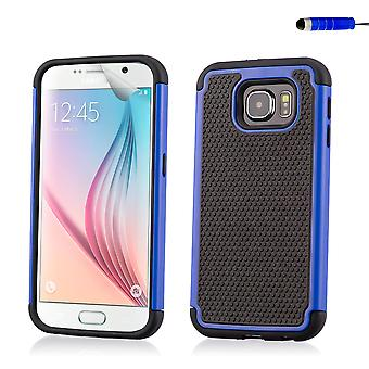 Shock proof case cover for Samsung Galaxy S6 (SM-G920) - Deep Blue