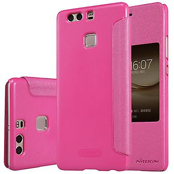 Nillkin smart cover Pink for Huawei P9 plus bag sleeve case pouch protective