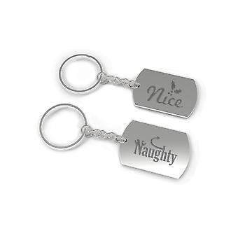 Nice and Naughty BFF Matching Key Chain Gift for Best Friends