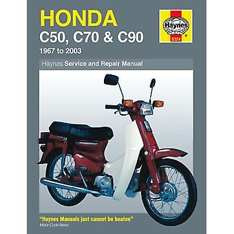 Honda C50 C70 & C90 1967 - 2003: 1967 to 2003 (Haynes Service and Repair Manuals) (Paperback) by Bleach Mervyn Churchill Jeremy