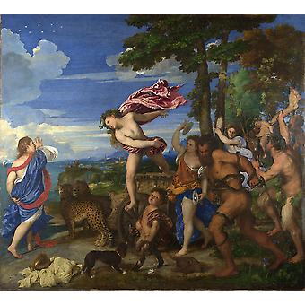 Titian - Bacchus and Ariadne Poster Print Giclee