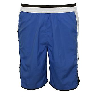 Just Cavalli Side Logo Bermuda-style Long Swim Shorts, Blue