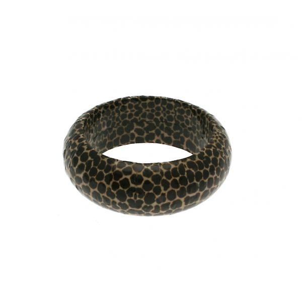 W.A.T Brown Paper Mache Animal Print Bangle