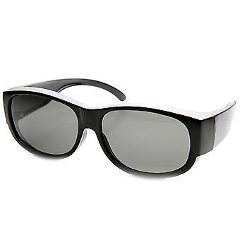 Store polariseret Wraparound fuld beskyttelse Square passer Over solbriller