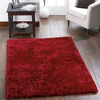 Hochflor Teppiche rot schimmern