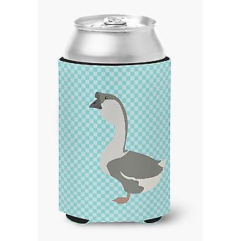 Carolines Treasures  BB8073CC African Goose Blue Check Can or Bottle Hugger