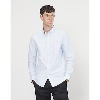 Farah Brewer Long Sleeve Oxford Shirt Blue