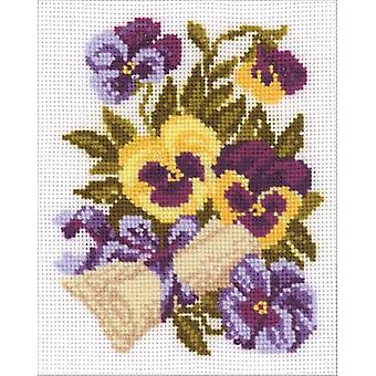 Pansy Letter Counted Cross Stitch Kit-5