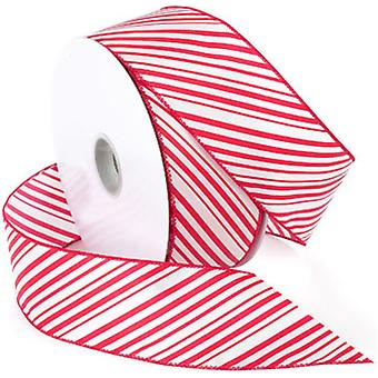 Peppermint Wired Ribbon 2.5